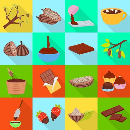Vector illustration of treat and product sign. Set of treat and yummy stock symbol for web. Stock fotó - 134975438
