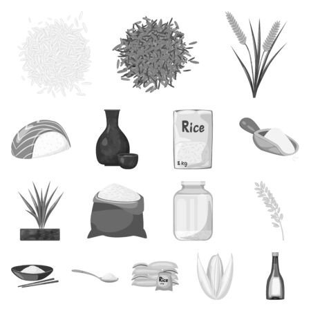 Vector illustration of food and organic icon. Collection of food and agricultural vector icon for stock. Ilustrace