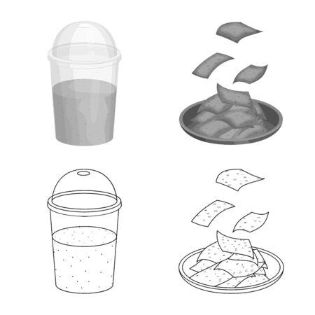 Vector design of protein and sea icon. Collection of protein and natural vector icon for stock.