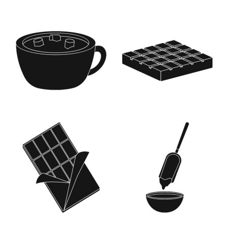 Vector illustration of cooking and brown symbol. Set of cooking and beans stock symbol for web.