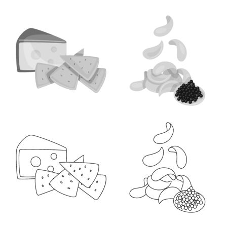 Isolated object of taste and seasonin symbol. Set of taste and organic vector icon for stock.