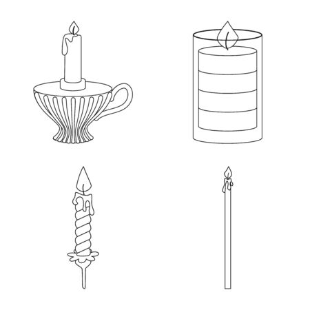 Isolated object of source and ceremony sign. Collection of source and fire stock symbol for web.