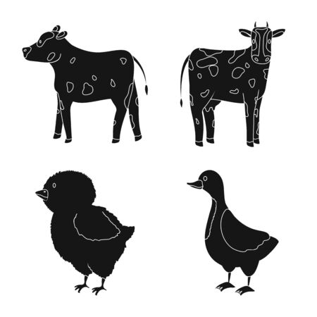 Vector illustration of ranch and organic icon. Collection of ranch and food vector icon for stock.