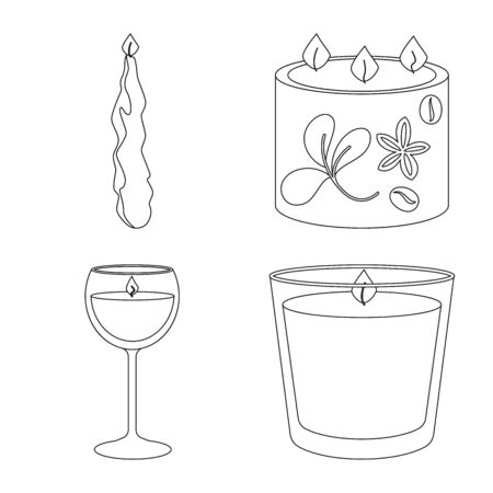 Vector illustration of source and ceremony icon. Collection of source and fire stock vector illustration.