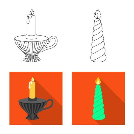 Vector design of relaxation and flame icon. Set of relaxation and wax stock vector illustration. Illusztráció