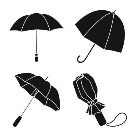 Vector illustration of weather and rainy symbol. Collection of weather and rain stock vector illustration.