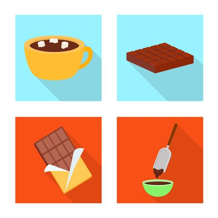 Isolated object of treat and product symbol. Set of treat and yummy stock vector illustration.