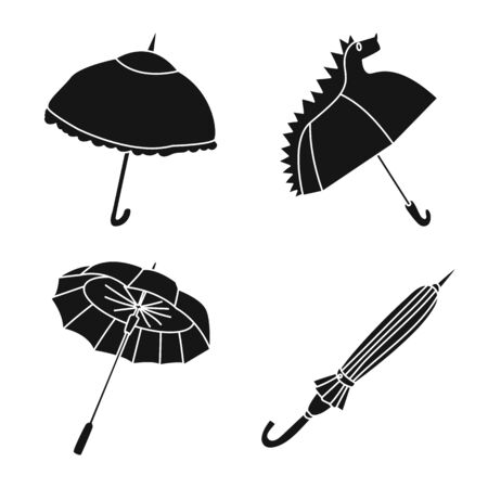 Vector design of weather and rainy symbol. Set of weather and rain stock symbol for web.