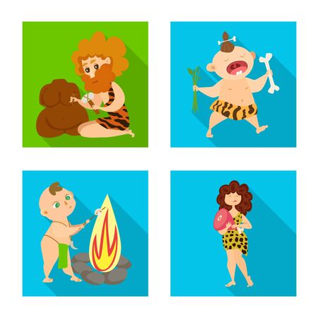 Isolated object of evolution and prehistory icon. Collection of evolution and development stock vector illustration. 版權商用圖片 - 137144522