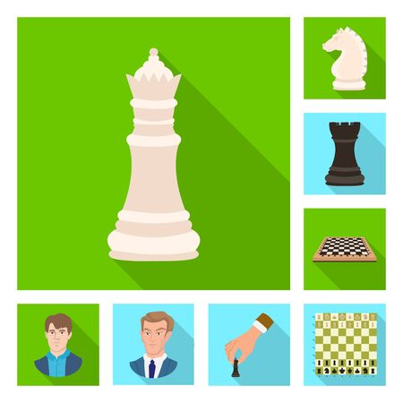 Vector illustration of checkmate and thin sign. Set of checkmate and target vector icon for stock.