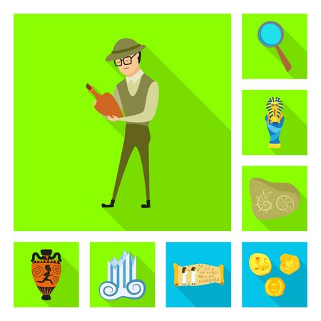 Isolated object of story and items icon. Collection of story and attributes vector icon for stock. Archivio Fotografico - 137144131
