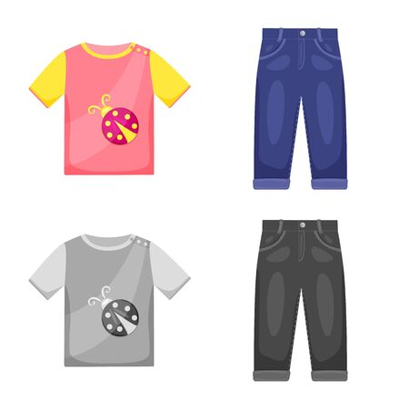 Vector illustration of fashion and garment symbol. Set of fashion and cotton stock vector illustration. Foto de archivo - 138472834