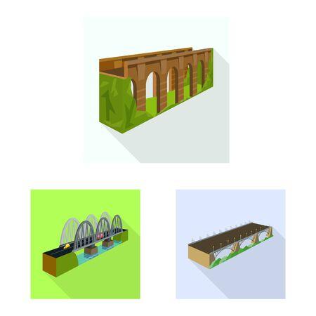 Vector illustration of connection and design. Collection of connection and side stock symbol for web. Foto de archivo - 138472892