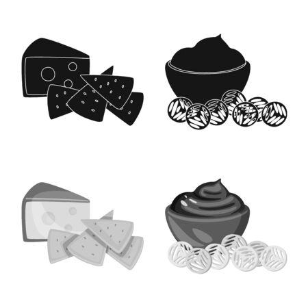 Vector illustration of taste and seasonin symbol. Collection of taste and organic stock vector illustration. Иллюстрация