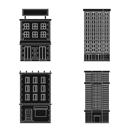 Vector illustration of modern and estate sign. Collection of modern and building stock vector illustration. Illusztráció