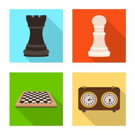 Vector design of checkmate and thin logo. Collection of checkmate and target stock symbol for web.