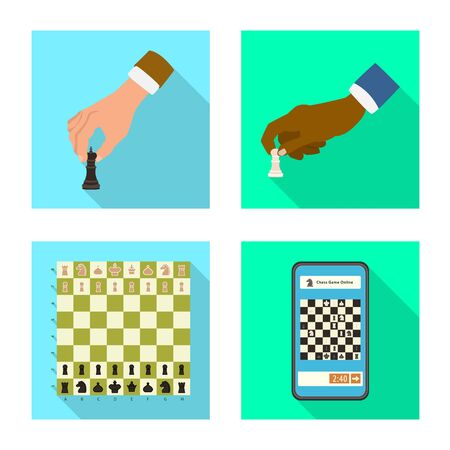 Vector design of checkmate and thin sign. Set of checkmate and target stock symbol for web. Stok Fotoğraf - 138452264