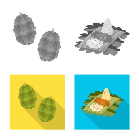 Isolated object of and travel symbol. Set of and traditional vector icon for stock.