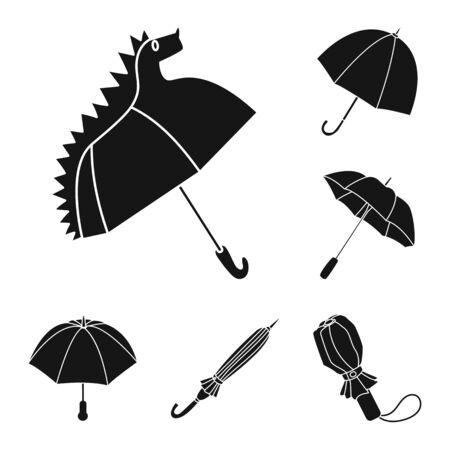 Isolated object of weather and rainy symbol. Set of weather and rain vector icon for stock.
