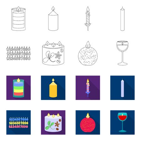 Isolated object of relaxation and flame icon. Set of relaxation and wax vector icon for stock. Imagens - 137783757