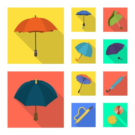 Isolated object of protection and closed icon. Collection of protection and rainy vector icon for stock. Çizim