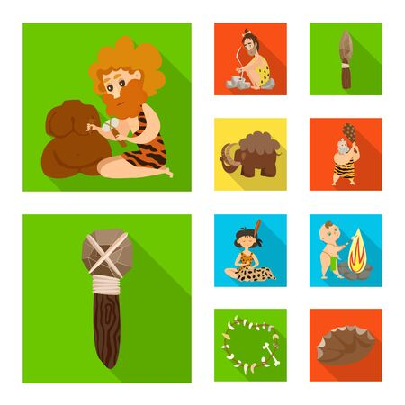 Isolated object of evolution and prehistory symbol. Collection of evolution and development vector icon for stock. Reklamní fotografie - 137784135