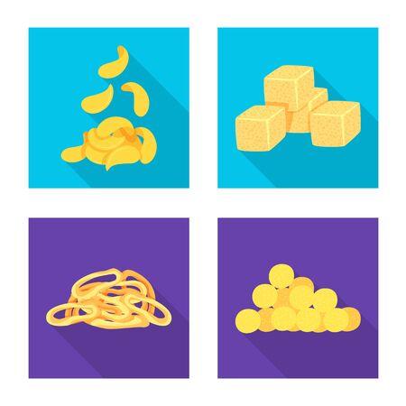 Vector illustration of Oktoberfest and bar symbol. Set of Oktoberfest and cooking stock vector illustration.