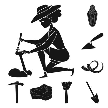 Isolated object of museum and attributes icon. Collection of museum and historical stock vector illustration.
