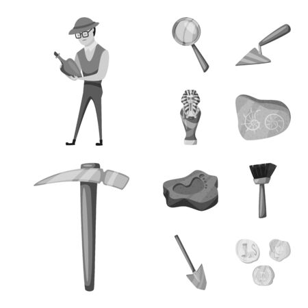 Isolated object of story and discovery icon. Set of story and items stock symbol for web. Vectores