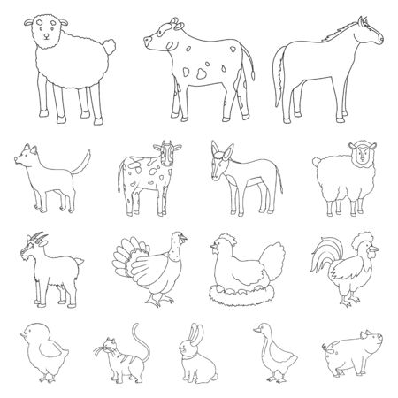 Vector illustration of homemade and countryside icon. Collection of homemade and agriculture stock symbol for web. Иллюстрация