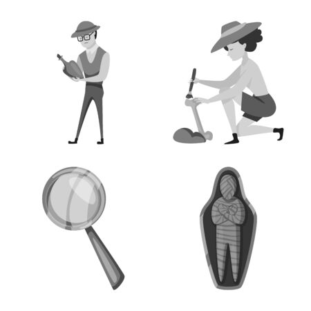 Vector illustration of story and discovery sign. Collection of story and items vector icon for stock.