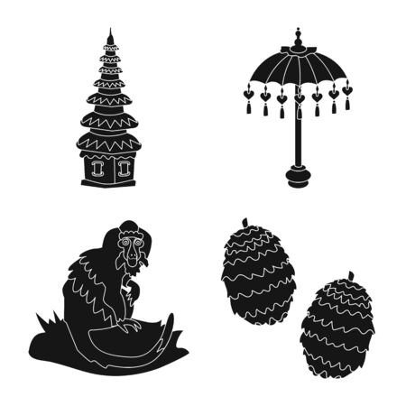Vector illustration of and traditional symbol. Collection of and bali vector icon for stock.
