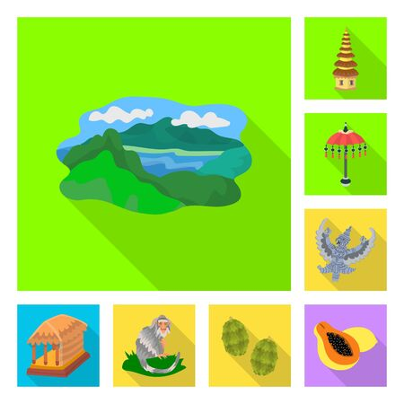 Vector illustration of travel and tourism icon. Collection of travel and island stock symbol for web.