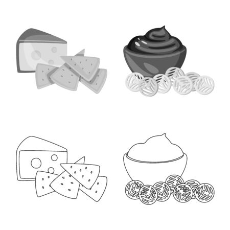 Vector design of taste and seasonin . Collection of taste and organic vector icon for stock.