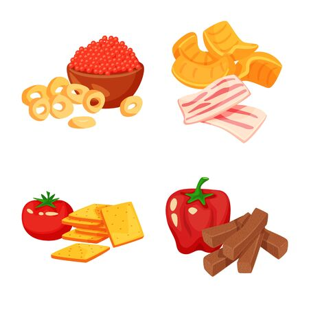 Isolated object of food and product sign. Set of food and party vector icon for stock.