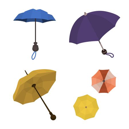 Vector design of umbrella and rain icon. Set of umbrella and weather stock symbol for web. Çizim