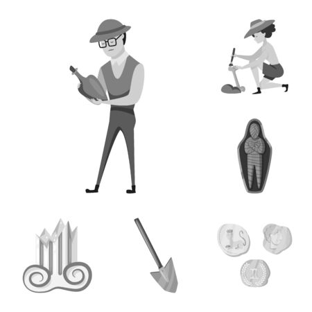 Isolated object of story and discovery icon. Set of story and items vector icon for stock.