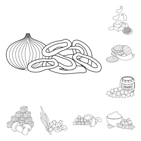 Vector illustration of taste and crunchy icon. Collection of taste and cooking stock vector illustration.