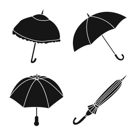 Vector design of weather and rainy symbol. Collection of weather and rain stock symbol for web.
