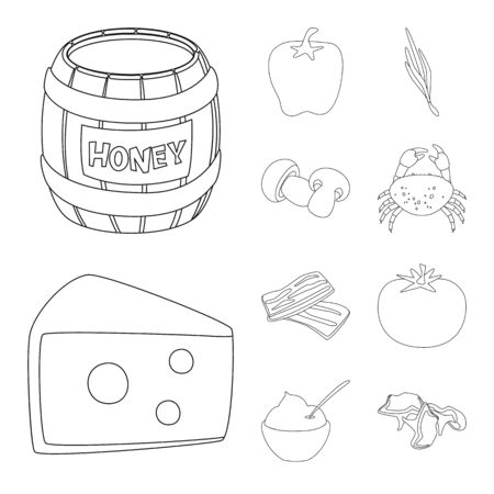 Vector design of seasonin and ingredient icon. Set of seasonin and aroma vector icon for stock. Illusztráció