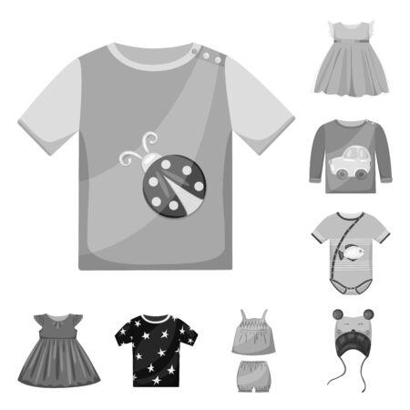 Vector design of cloth and apparel icon. Collection of cloth and garment vector icon for stock. 向量圖像