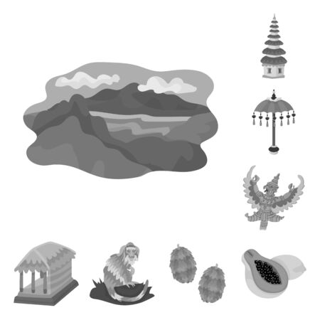Isolated object of asian and geography symbol. Collection of asian and tourism stock symbol for web.