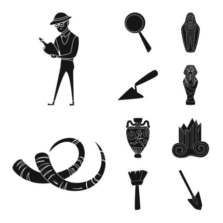 Isolated object of museum and attributes symbol. Set of museum and historical vector icon for stock.