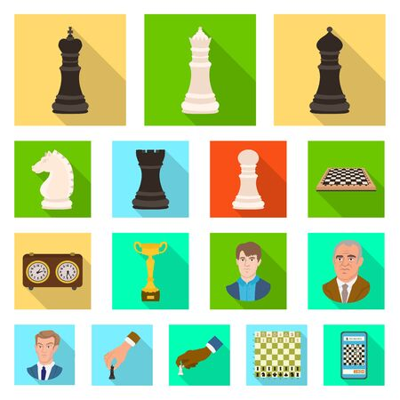 Vector design of checkmate and thin symbol. Collection of checkmate and target stock vector illustration. Ilustrace