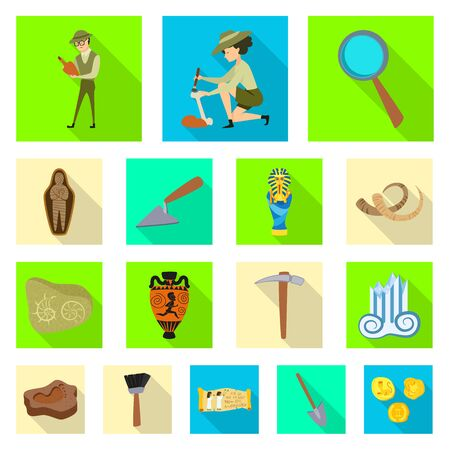 Vector design of story and items symbol. Collection of story and attributes vector icon for stock. Vectores