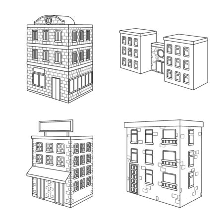 Vector illustration of home and apartment icon. Set of home and modern vector icon for stock.