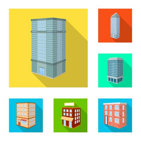 Vector design of construction and building symbol. Collection of construction and estate stock vector illustration. 向量圖像