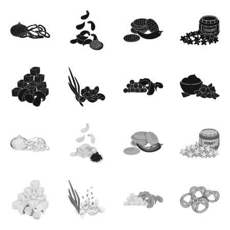 Vector illustration of taste and seasonin symbol. Collection of taste and organic stock symbol for web.