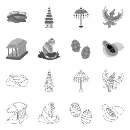 Vector design of and travel icon. Collection of and traditional stock symbol for web.
