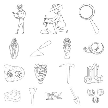 Isolated object of story and research logo. Set of story and discovery vector icon for stock.